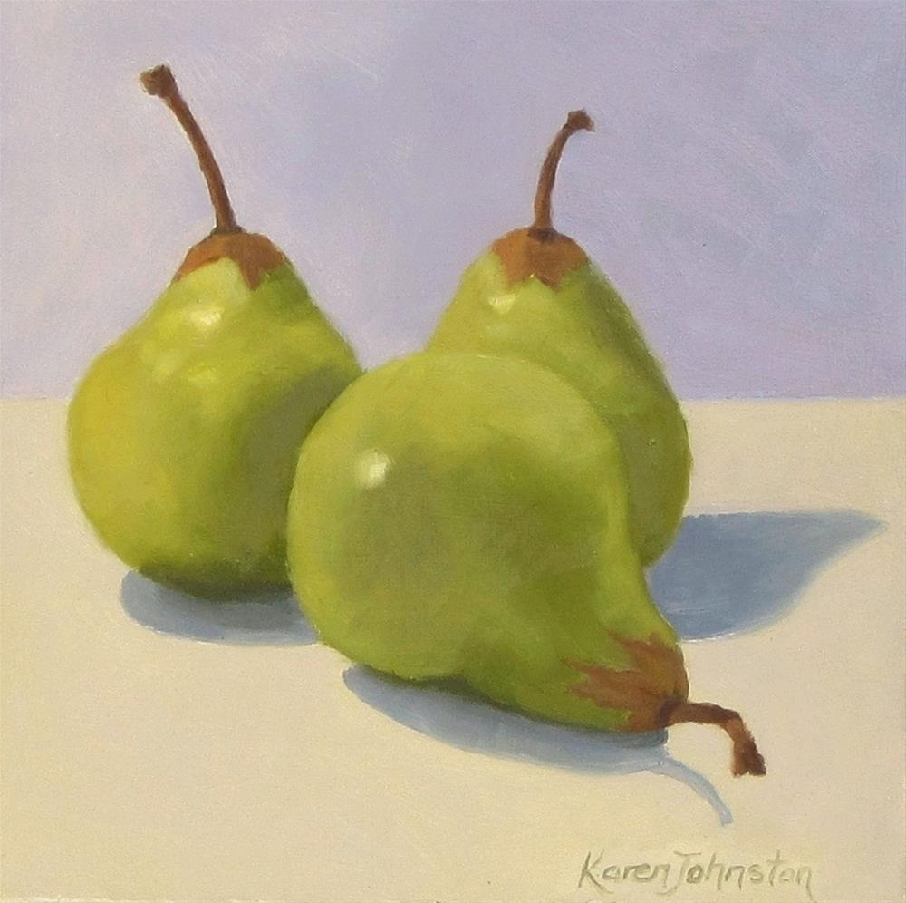"""Packham Pears"" original fine art by Karen Johnston"