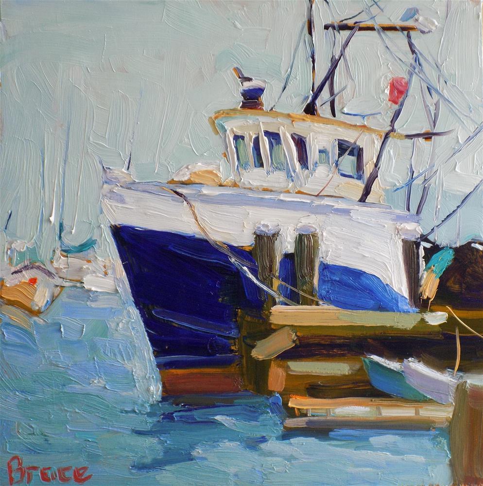 """""""Fishing Vessel"""" original fine art by Rita Brace"""