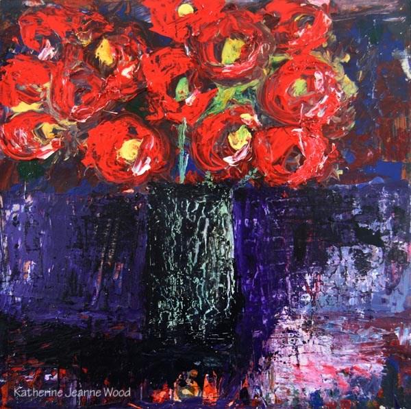 """Floral Series No 36"" original fine art by Katie Jeanne Wood"