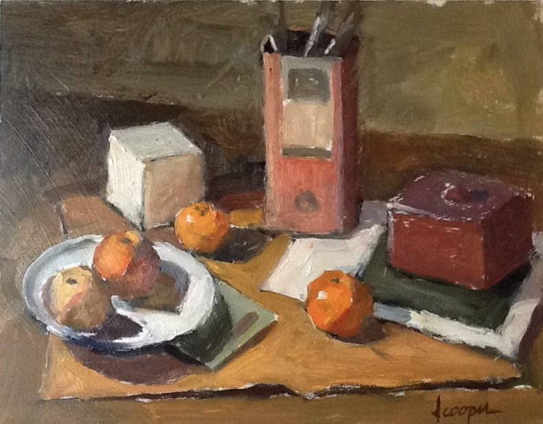 """Study In Orange"" original fine art by Dana Cooper"