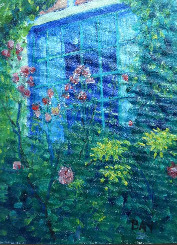 """MONET'S WINDOW"" original fine art by barbara yongue"