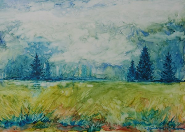 """Lost Lake"" original fine art by Jana Johnson"