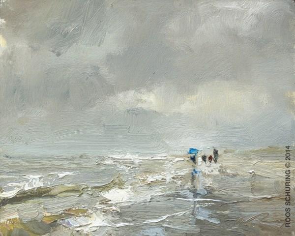 """""""Umbrella Day"""" original fine art by Roos Schuring"""