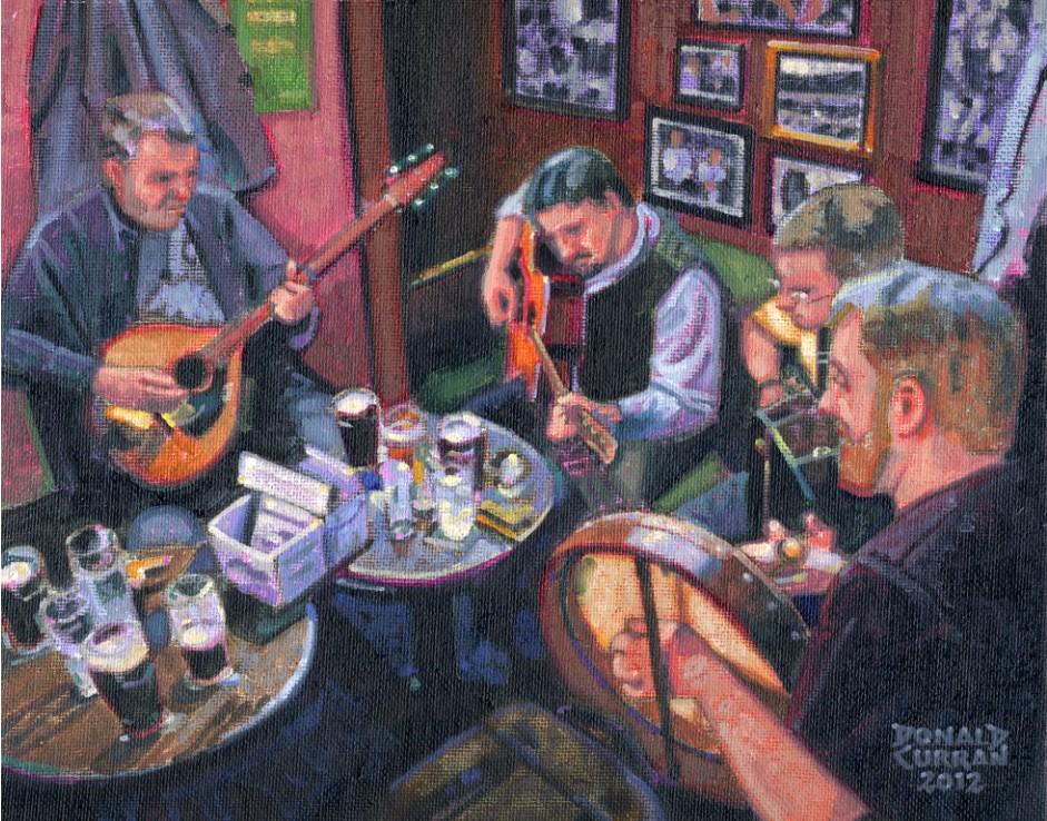 """Irish Pub Music"" original fine art by Donald Curran"
