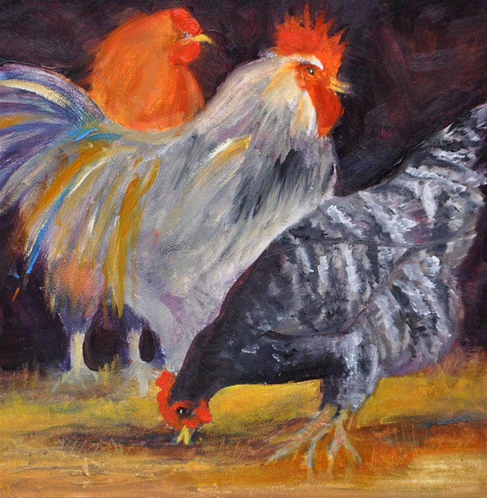 """Barnyard Friends"" original fine art by Jacquelyn Blue"