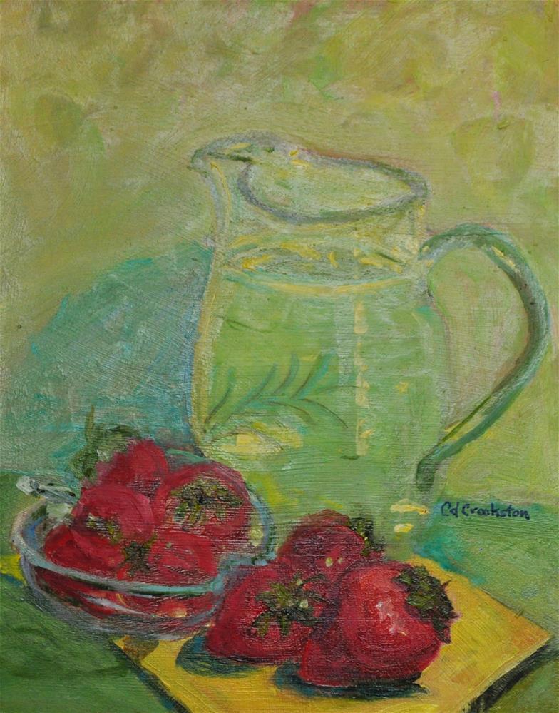 """Strawberries and Lemonaid"" original fine art by Catherine Crookston"