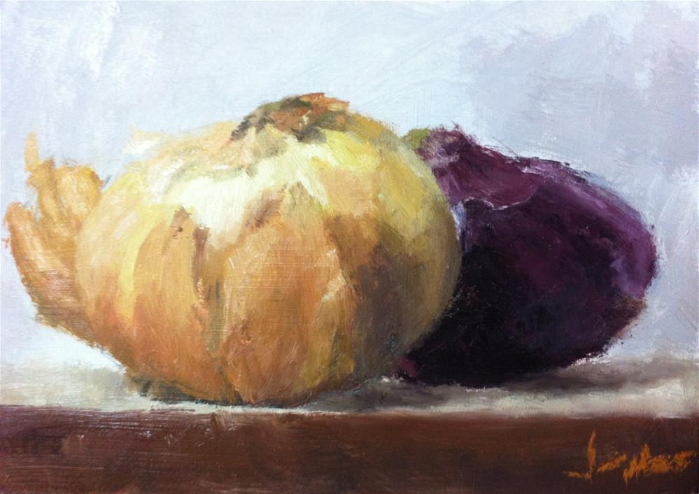 """Yellow and Red Onions"" original fine art by Richard Jones"
