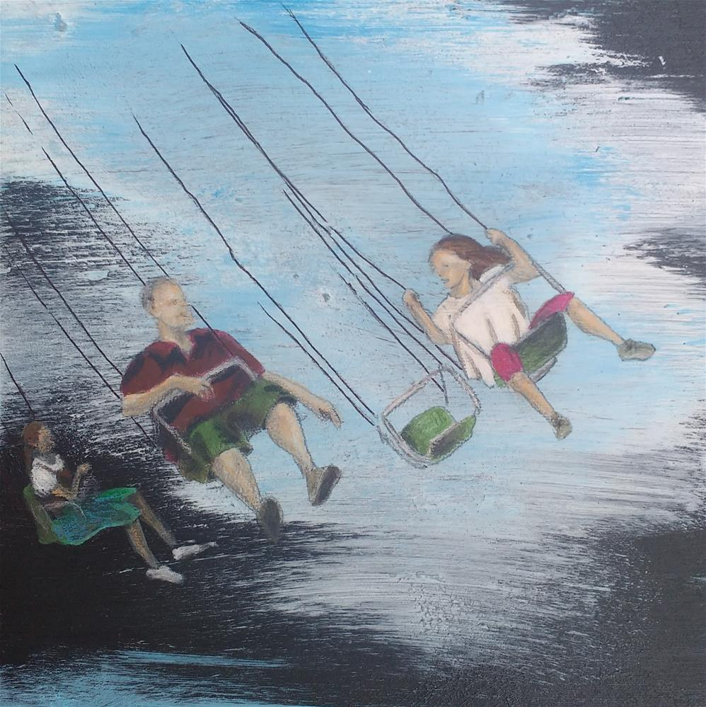"""Carousel"" original fine art by Sandra Woerner"