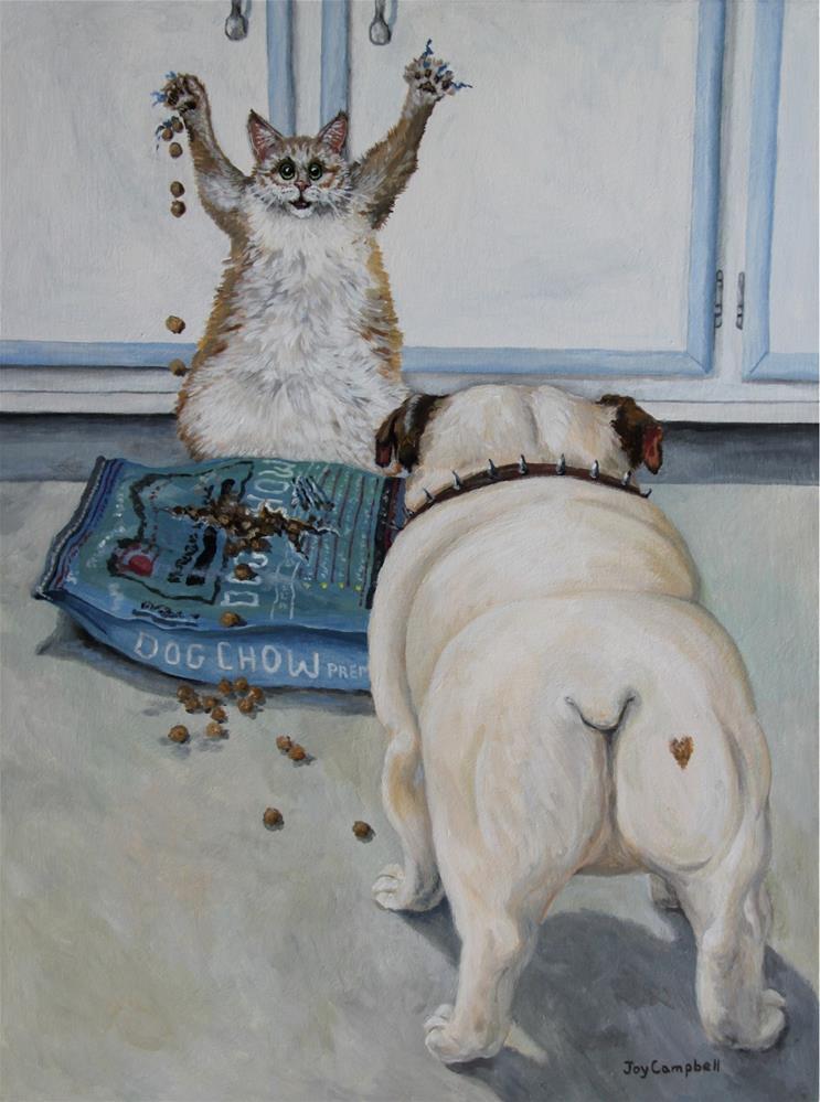 """Sweet Cheeksaka Busted"" original fine art by Joy Campbell"