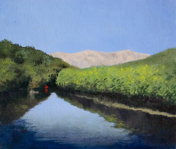 """""""Sacramento Delta"""" original fine art by Gerald Schwartz"""