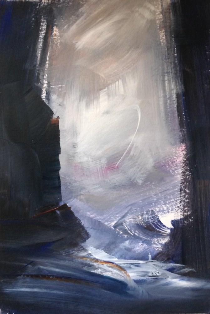 """Palely Loitering"" original fine art by David Kuhn"