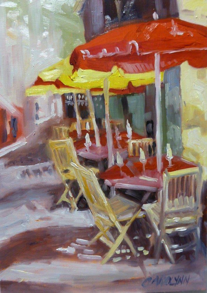 """""""Waiting For Happy Hour"""" original fine art by Carolynn Doan"""