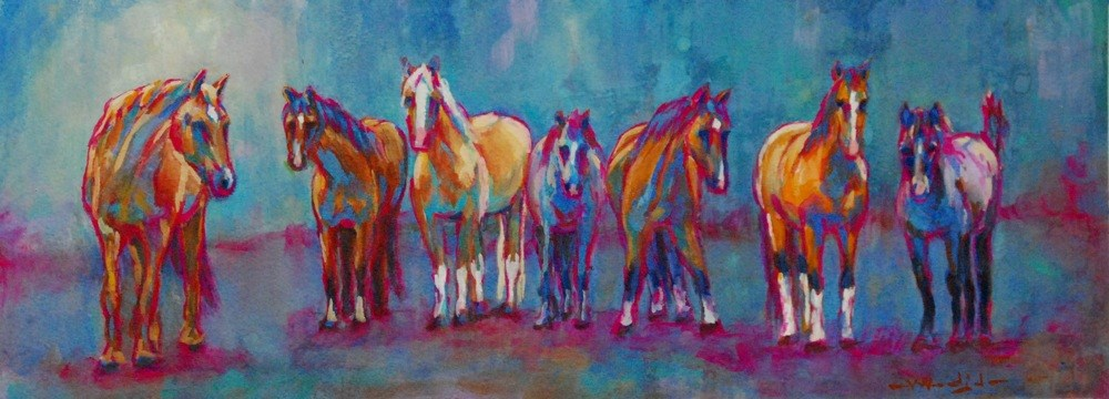 """my executive board"" original fine art by Vicki Wood"