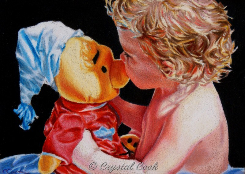 """""""A Kiss On The Nose"""" original fine art by Crystal Cook"""
