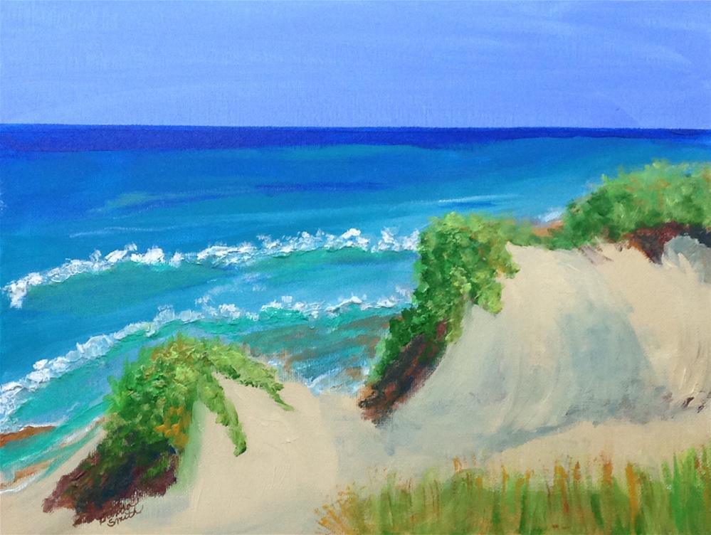"""""""Escape to Sunny Beach"""" original fine art by Brenda Smith"""