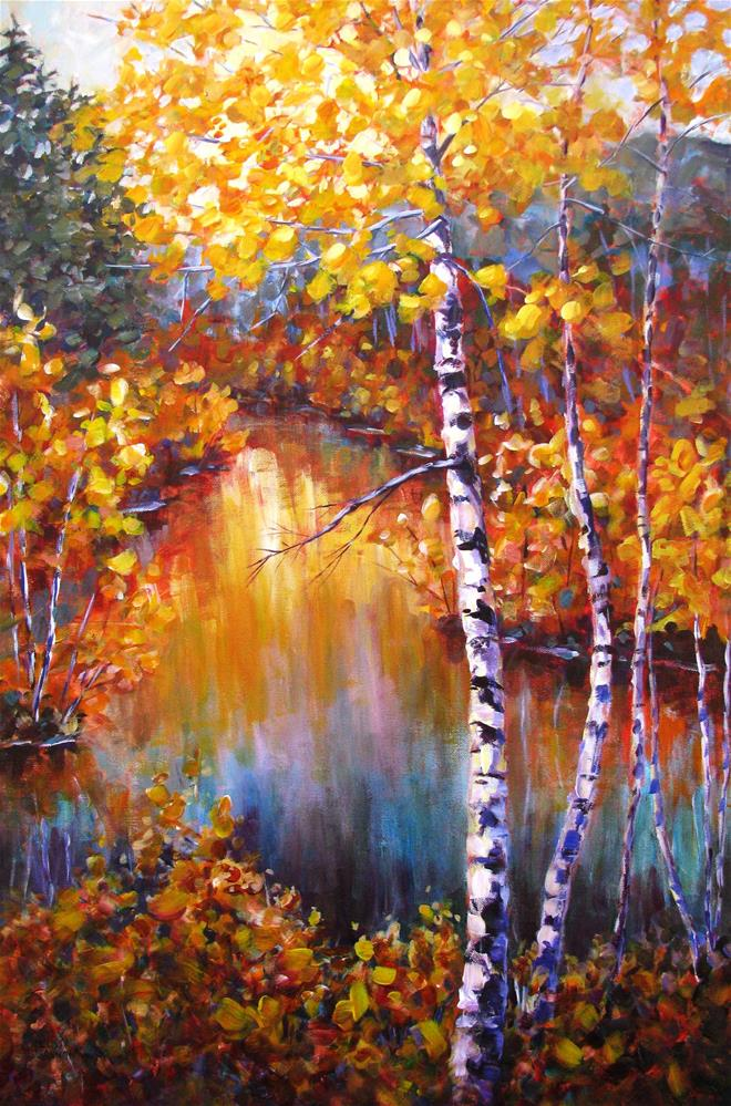 """Colors Along the River"" original fine art by Melissa Gannon"