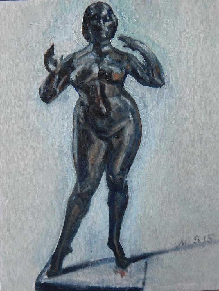 """Bronze Nude"" original fine art by Megan Schembre"