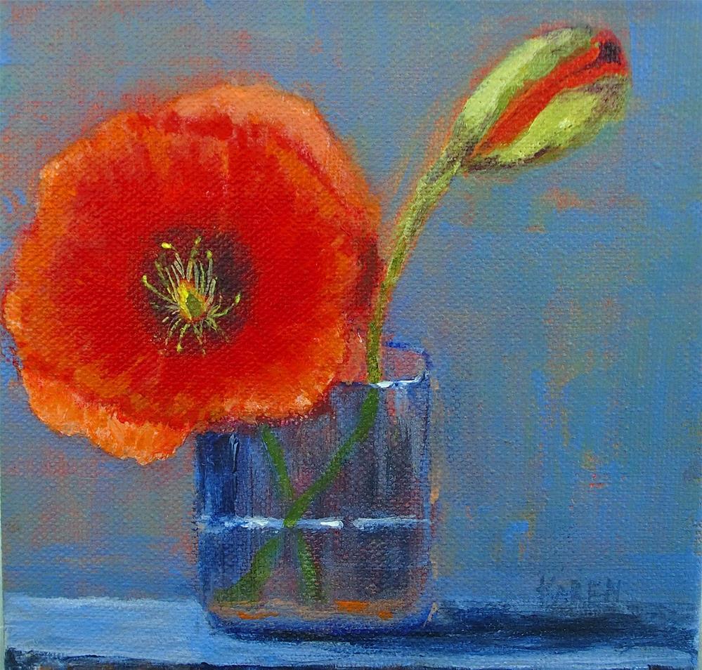 """A Poppy"" original fine art by karen richardson"
