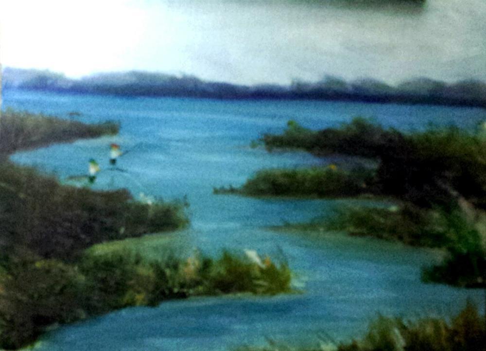 """PORT ARANSAS INLAND BAYOU"" original fine art by Tracy Wilkerson"