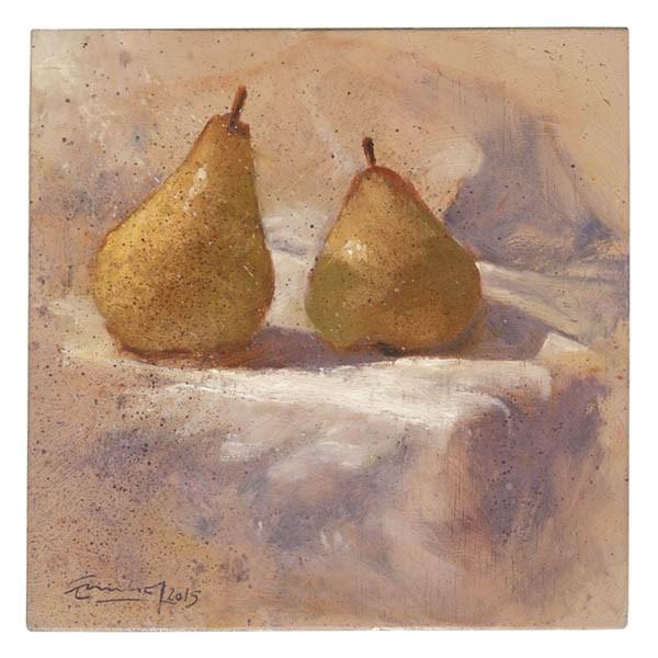 """""""Dos peras"""" original fine art by Emilio López"""