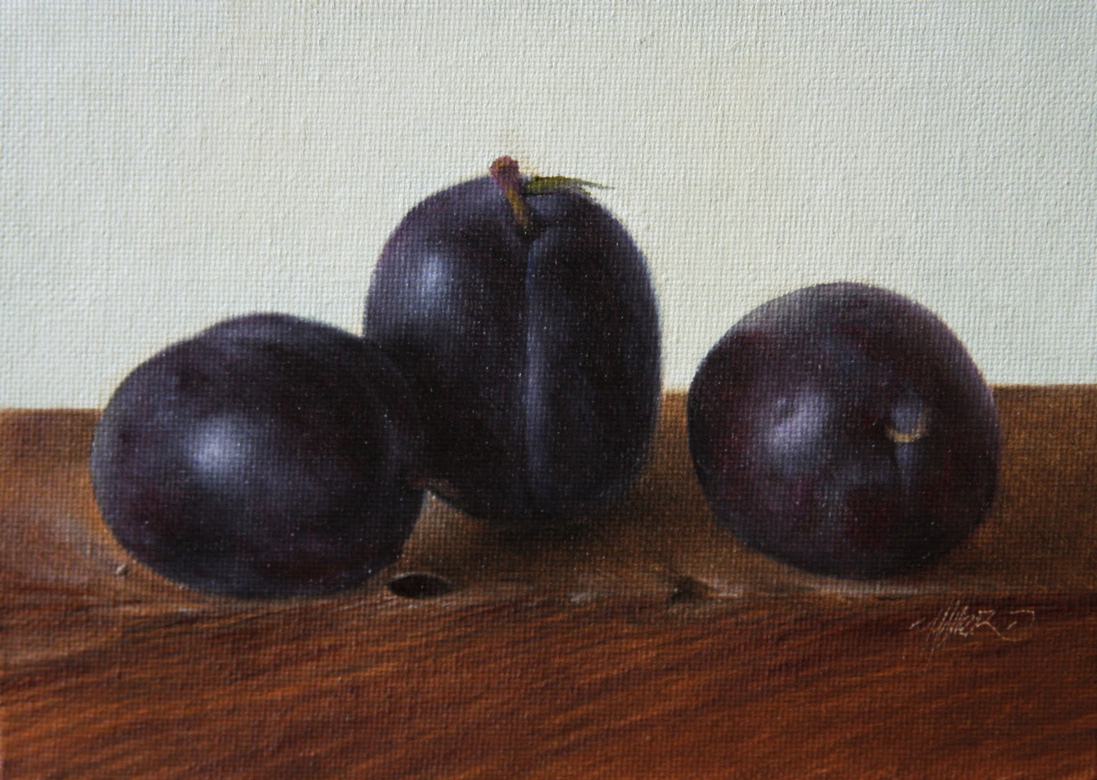 """Prune Plums"" original fine art by Jonathan Aller"