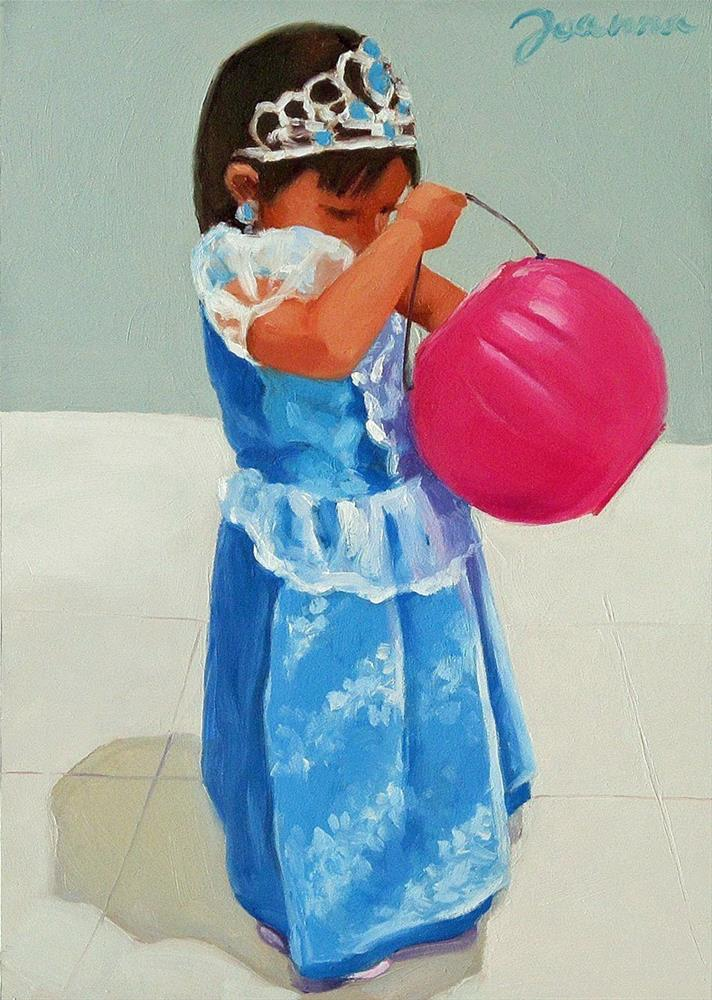"""Inventorying Princess--Kid in Halloween Costume"" original fine art by Joanna Bingham"