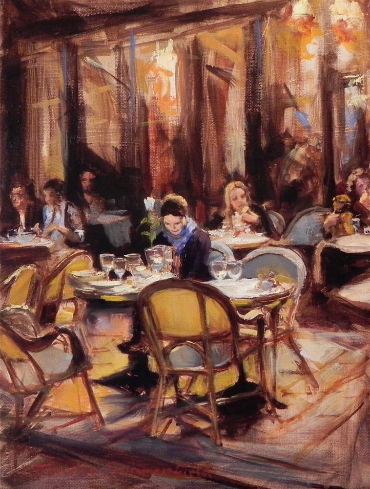 """After Dinner in Saint Germain"" original fine art by Jonelle Summerfield"