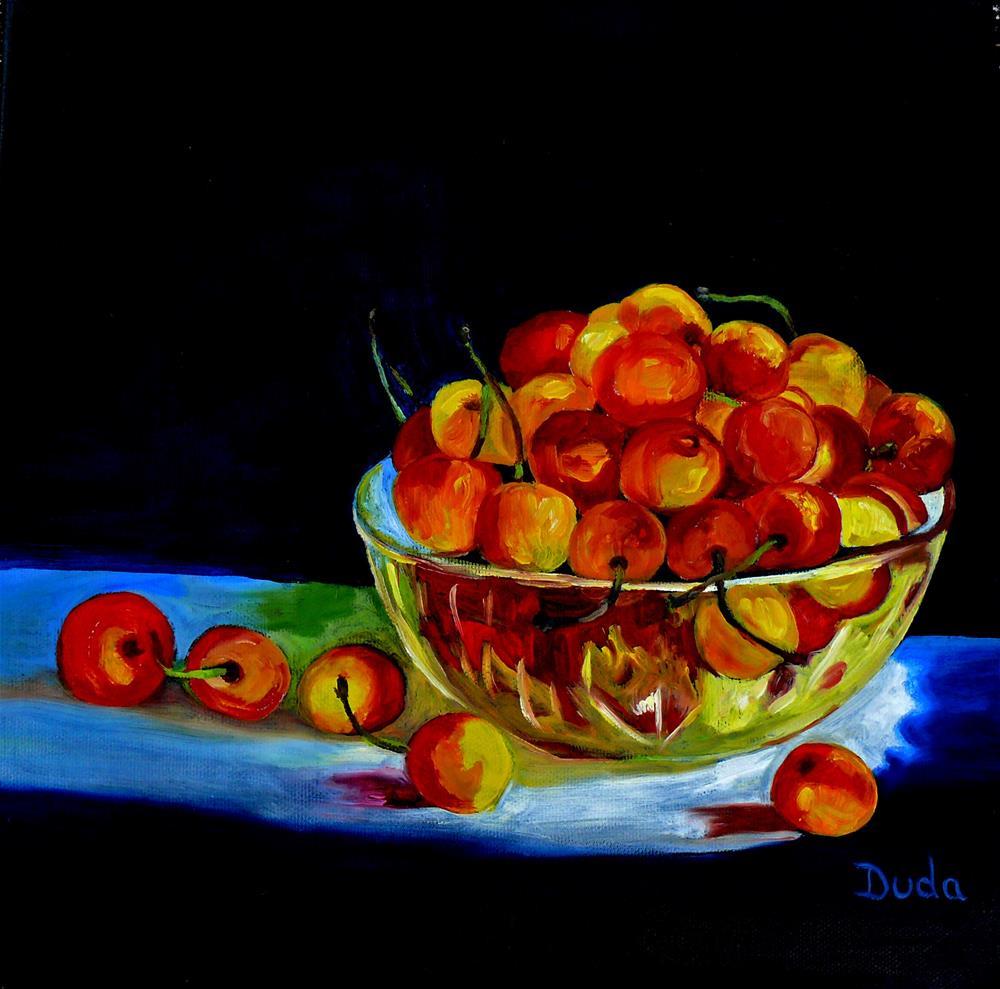 """Summer Rainier Cherries"" original fine art by Susan Duda"