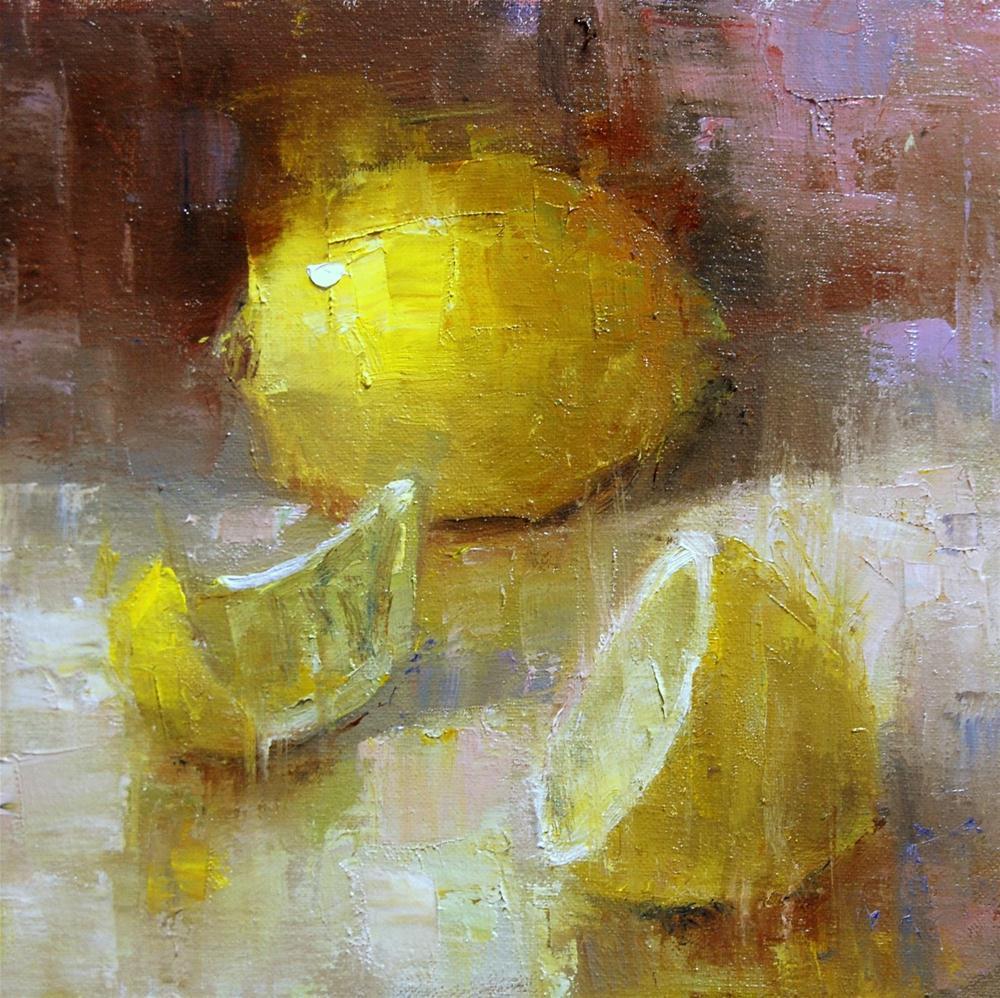 """""""More Lemons"""" original fine art by Julie Ford Oliver"""