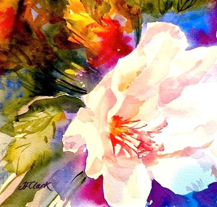 """September Lily"" original fine art by Judith Freeman Clark"