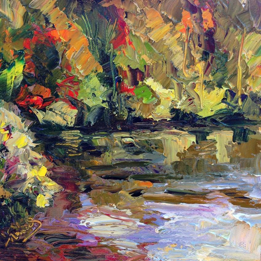"""Price Lake, Blue Ridge Pkwy"" original fine art by Carol Steinberg"