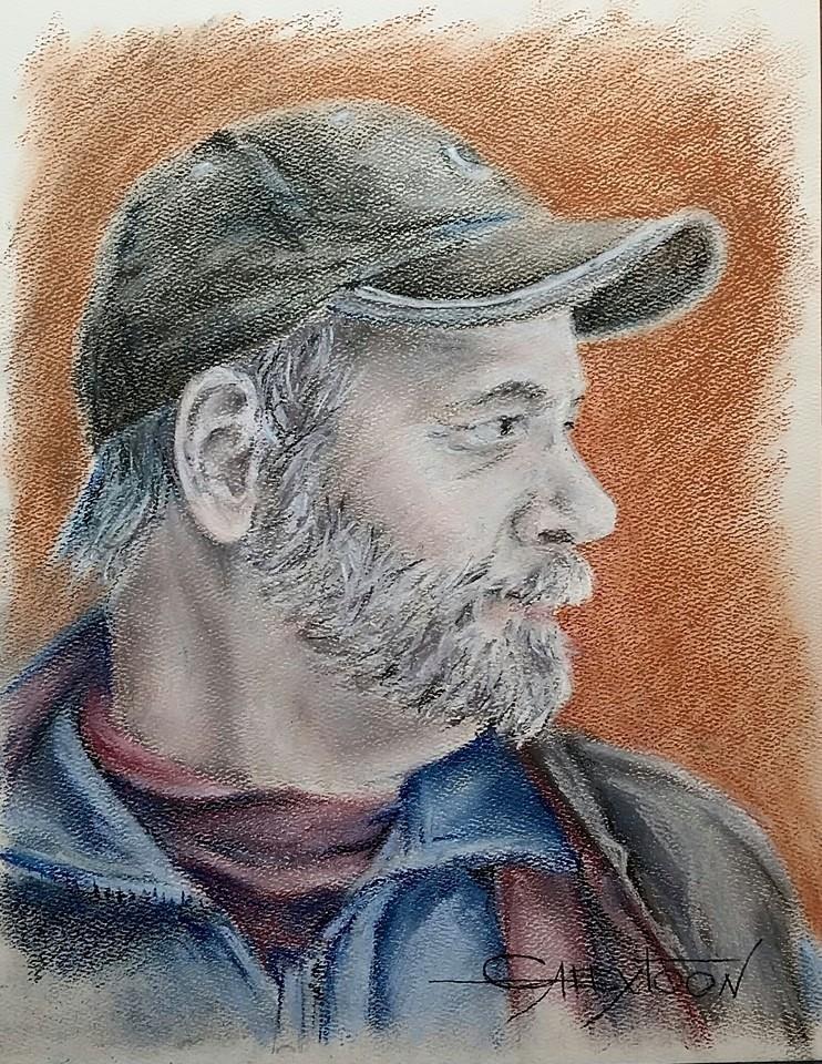 """Paul: pastel"" original fine art by Gabriella DeLamater"