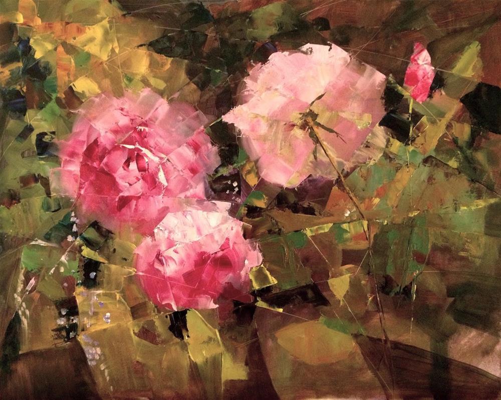 """""""The Logic of a Summer Garden I 24x18"""" original fine art by Ann Feldman"""