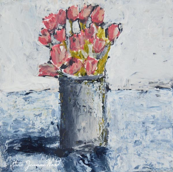 """Acrylic Floral Painting No 4"" original fine art by Katie Jeanne Wood"