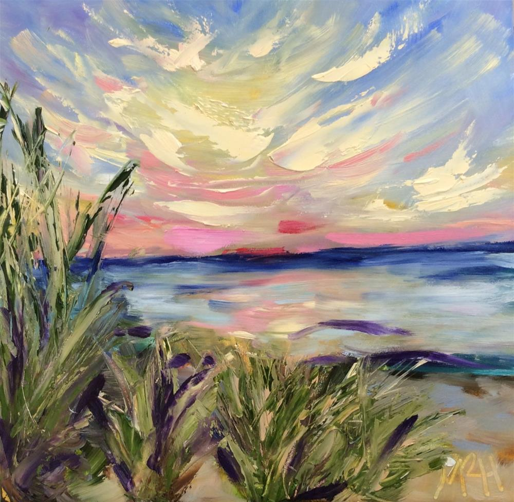 """Dune Sunset"" original fine art by Molly Rohrscheib Hathaway"