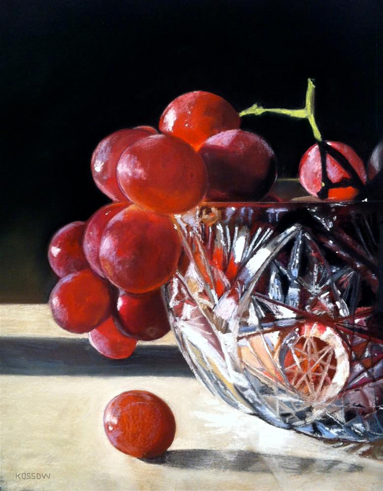 """Crystal Grapes"" original fine art by Cristine Kossow"