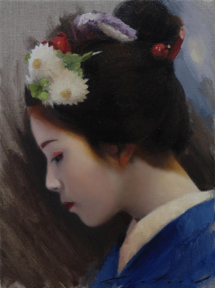 """""""Katsutomo in Profile"""" original fine art by Phil Couture"""