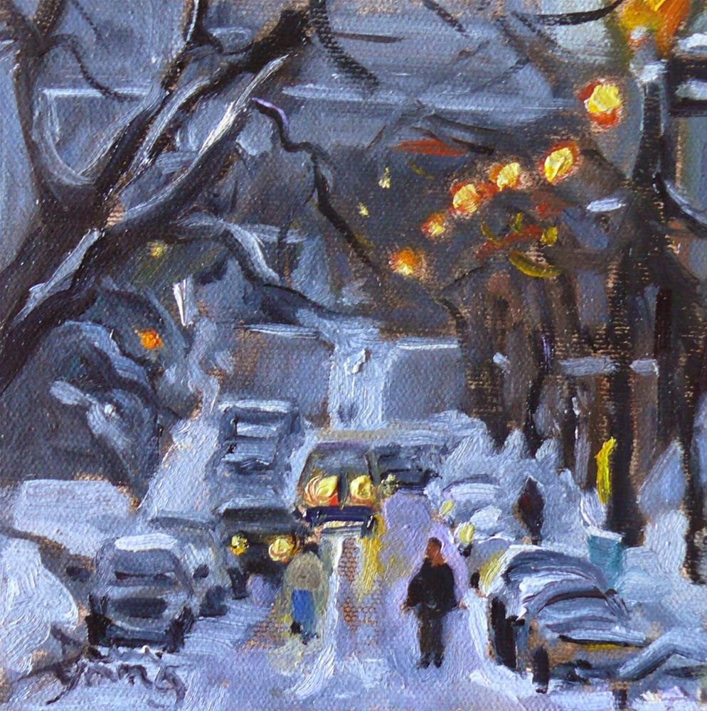 """788 Av Du Musee, Montreal Winter Scene,"" original fine art by Darlene Young"