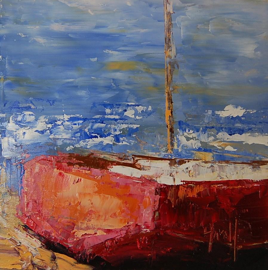 """""""Balboa Red"""" original fine art by Deborah Harold"""