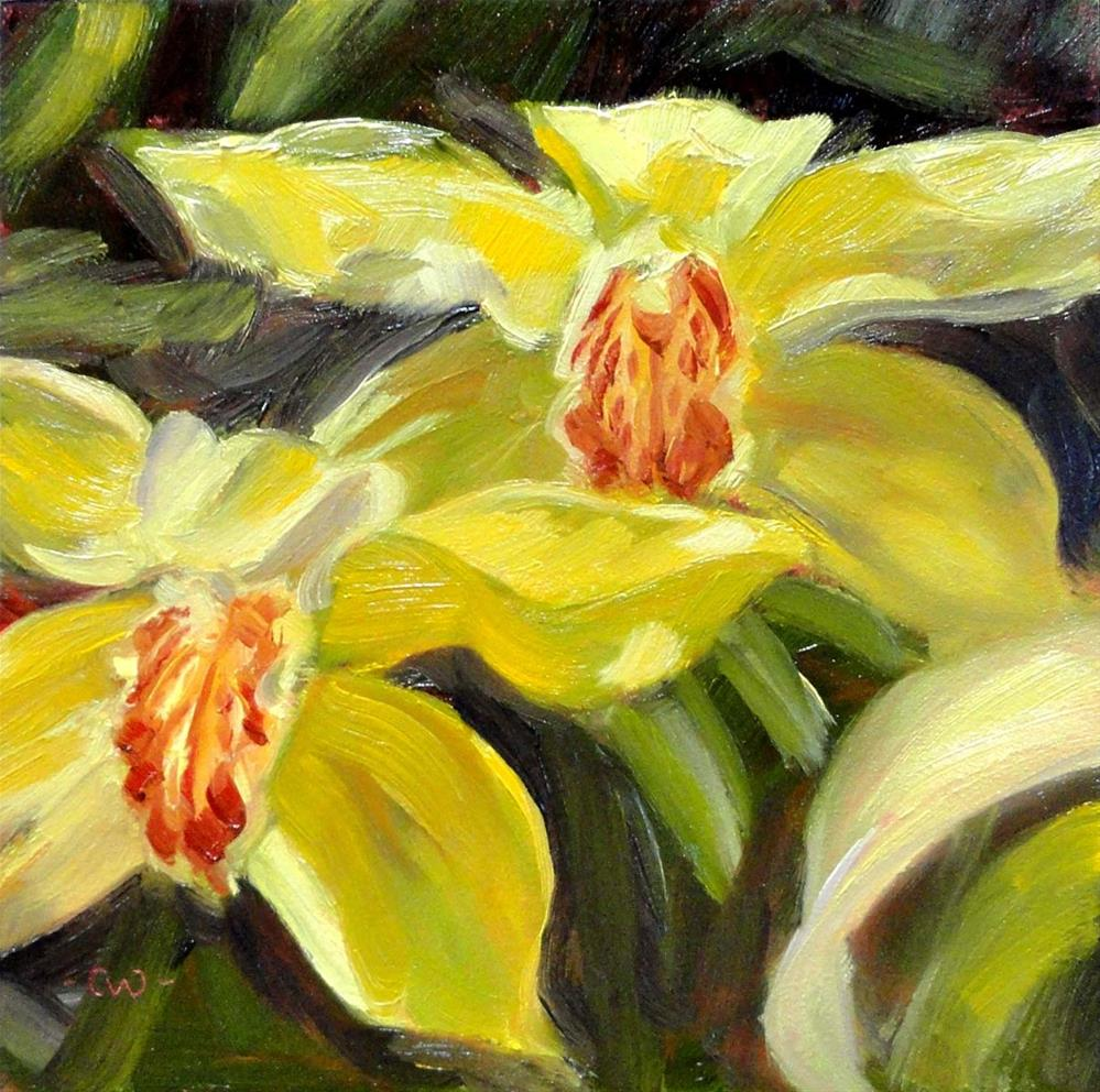 """Cymbidium Orchids"" original fine art by Cietha Wilson"