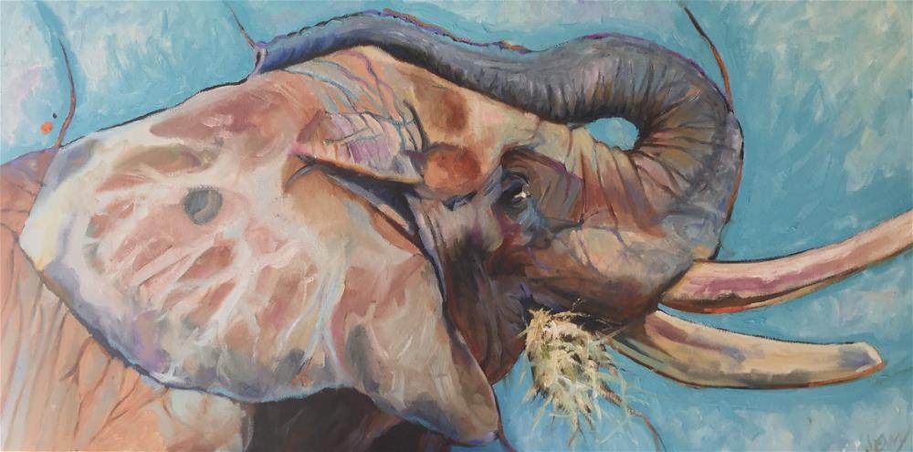 """""""Title is Irrelephant"""" original fine art by Jenny Buckner"""