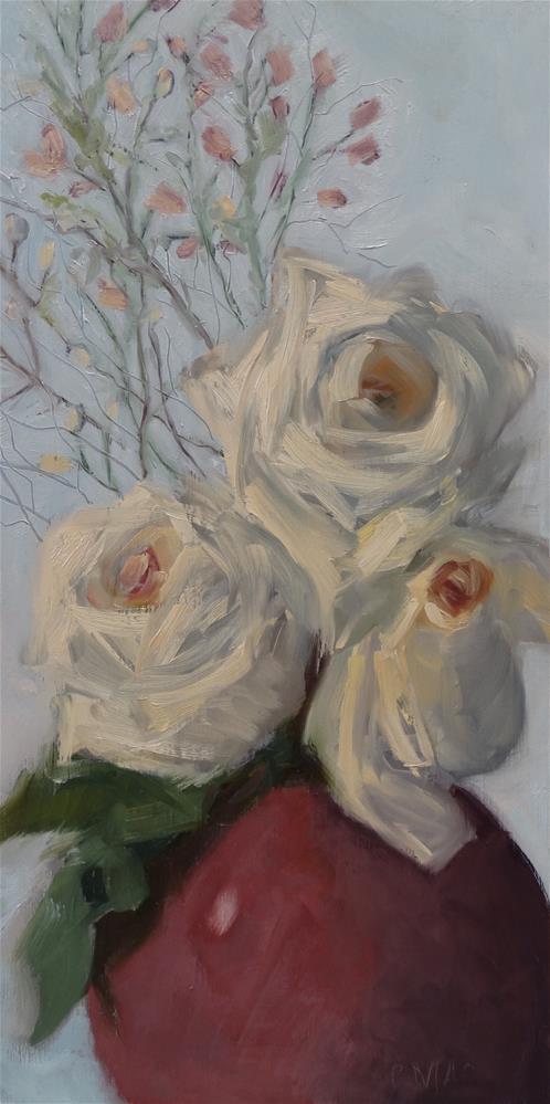 """White Fidelity"" original fine art by Carolyn McDonald"