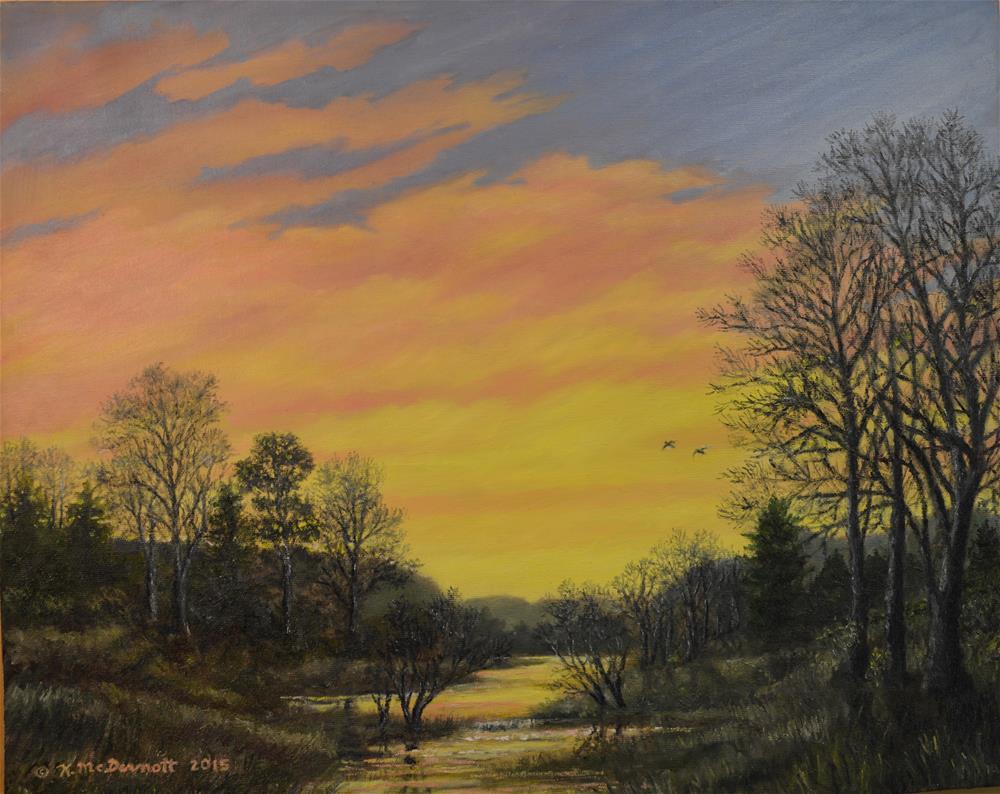 """""""SUNDOWN GLOW (C) 2015 by K. McDermott"""" original fine art by Kathleen McDermott"""