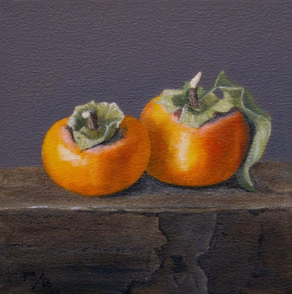 """Persimmons"" original fine art by Pera Schillings"