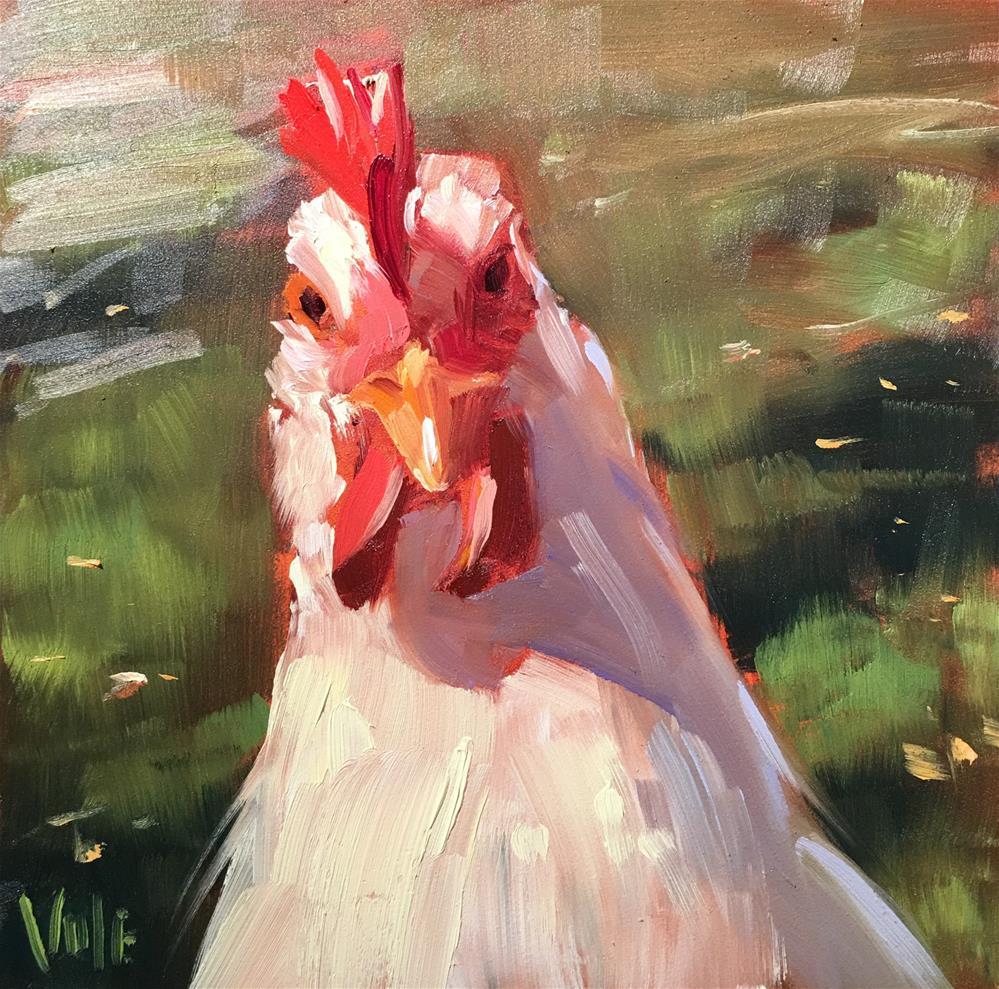"""""""#264 Farm Patrol"""" original fine art by Patty Voje"""