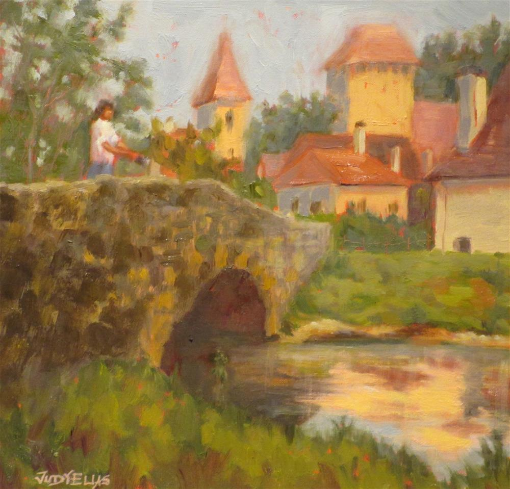 """A French Village"" original fine art by Judy Elias"