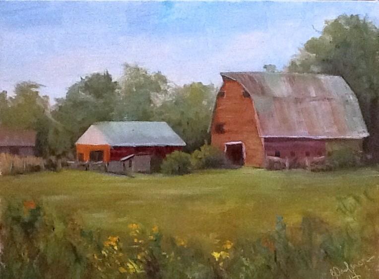 """The Williams Barn"" original fine art by Judith Anderson"