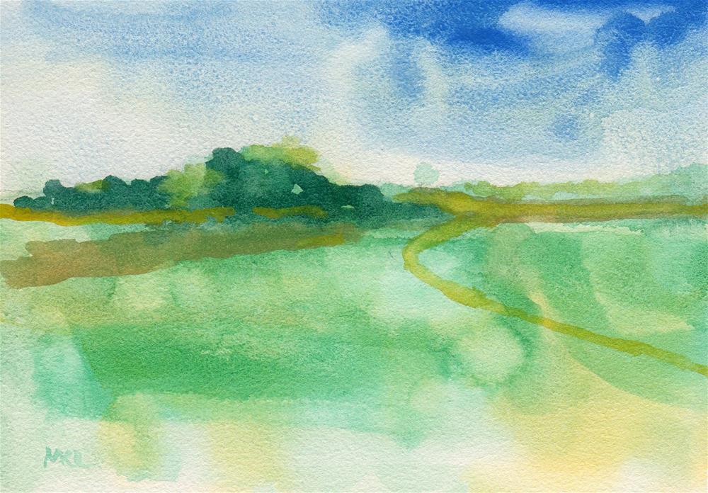 """Summer Day in the Valley"" original fine art by Marlene Lee"