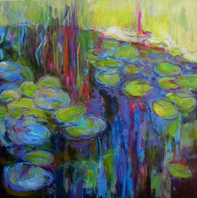 """Pond Reflections"" original fine art by Patricia MacDonald"
