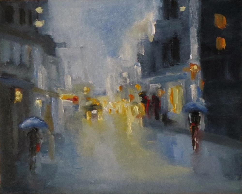 """Keep the umbrella handy"" original fine art by Astrid Buchhammer"